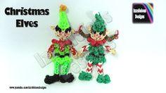 Rainbow Loom Christmas/Xmas Elves/Elf Action Figure/Doll/Charm tutorial by Izzalicious Designs. Rainbow Loom Fishtail, Rainbow Loom Bands, Rainbow Loom Charms, Rainbow Loom Christmas, Rubber Band Crafts, Rubber Bands, Loom Bands Tutorial, Crazy Loom, Loom Love