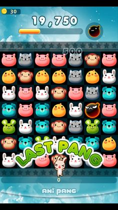 Matching the animals on anipang- Korean android game app on Kakao Match 3 Games, Game Gui, Game Ui Design, Cute Characters, Mobile Game, Puzzle Games, Quizzes, South Korea, Banners