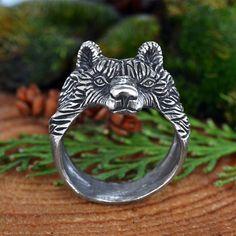 Bear ring. Viking Bear Head Ring. Berserker ring. Jewel от RuyaN