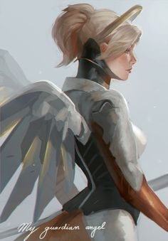 My guardian angel. by RinRinDaishi on DeviantArt Wonderland Events, Heroes Of The Storm, My Guardian Angel, Widowmaker, Video Game Art, Cultura Pop, Paladin, Female Characters, Cool Art