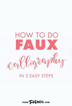 Need to crate a calligraphy look but don't have the right tool?  You can totally fake it, I'm serious. Have you ever heard of Faux  Calligraphy? I'm sure you have, it's a fancy way of saying Fake  Calligraphy.