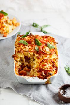 Caprese mac and cheese