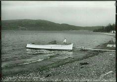 Meråker i Nord-Trøndelag fylke båt på innsjøen Færen utg Normann. Feren er en innsjø i kommunene Meråker, Stjørdal, Levanger og Verdal i Nord-Trøndelag fylke. Den største delen av innsjøen ligger i Meråker. Utløpet til elva Forra er fredet som Øvre Forra naturreservat