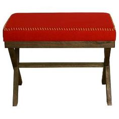 Red Cloth Stitched Bench - Threshold™ : Target