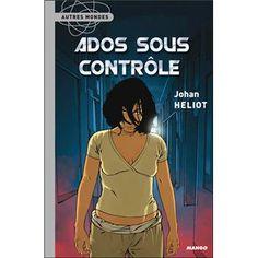 """""""Ados sous contrôle"""" est un livre de  Johan Heliot publié en  2007  son éditeur est  """" MANGO jeunesse """" il fait partie de la collection """" Autres Monde """" se livre  est constitué de 210 pages . L'auteur  raconte la vie de lou une ado rebelle qui préfére la fumette à l'école ses parents désespéré la confients """" pour son bien """" à un camp de rééducation au méthodes douteuses égale à celle d'une secte qui font que certain ados les """"APO"""" on un comportement  étrange  quel secret cache se camp ?…"""