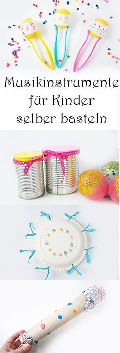 Musikinstrumente für Kinder selber basteln aus Upcycling Materialien schnell un… Tinker musical instruments for children themselves from upcycling materials quickly and easily Crafts To Sell, Diy And Crafts, Crafts For Kids, Arts And Crafts, Children Crafts, Upcycled Crafts, Souvenirs Ideas, Making Musical Instruments, Diy Y Manualidades