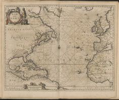 1650 map of the Atlantic