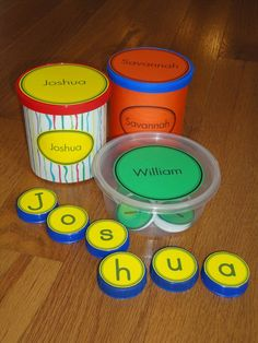 Name Activities for Preschool Pre-K and Kindergarten: Name Practice Puzzles Preschool Names, Preschool Literacy, Alphabet Activities, Early Literacy, Literacy Activities, Preschool Sign In Ideas, Early Learning, Fun Learning, Name Practice