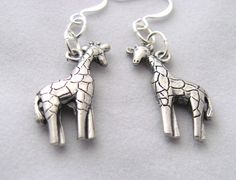 Giraffe Earrings, for you or your favorite animal lover.  In both my Aftcra and Etsy shops.