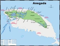 Anegada map-- Was my favorite place in BVI