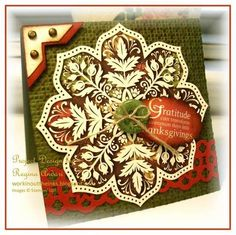 "Love this ... white embossing on designer series paper ... just gorgeous! **** SU ""Day of Gratitude"""