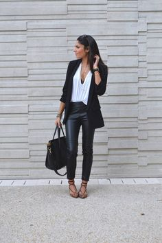 blog mode idée tenue pantalon cuir