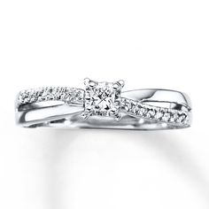 Diamond Engagement Ring 1/4 Carat tw 10K White Gold