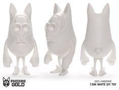 "Phidias Gold:  Phidias Gold Resin - DIY White 7.5"""