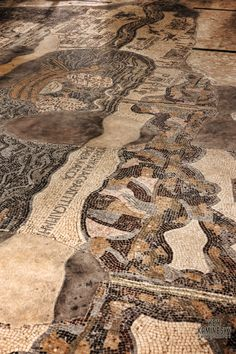 Mosaic Map in Church of the Map in Madaba