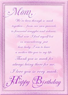 image about Birthday Cards for Mom From Daughter Printable titled Pinterest