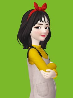 3d Character, Disney Characters, Fictional Characters, Snow White, Short Hair Styles, Disney Princess, Couples, Drawings, Girls