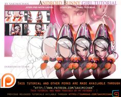 Android Bunny tutorial pack .promo. by sakimichan