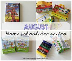 TeacherMomPlus3: August Homeschool Favorites