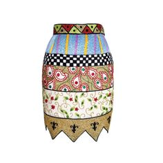 Todd Oldham remarkable beaded Vintage skirt S