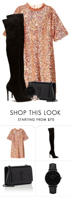 """Geen titel #132"" by pinkreble ❤ liked on Polyvore featuring H&M, Yves Saint Laurent and CLUSE"