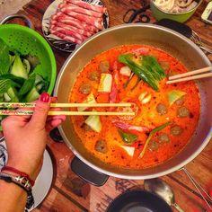Fondue thaïlandaise, Recette de Fondue thaïlandaise par Saï - Food Reporter