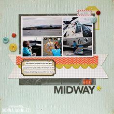 U.S.S. Midway - Scrapbook.com --> layout!