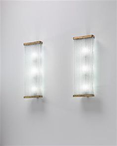 VENINI  Pair of large wall lights, 1950