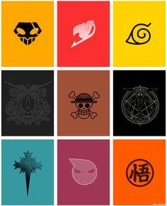 2 eu nao conheço Bleach - Firy Tail - Naruto Nao sei - One Piece - Full Metal Nao sei - Soul Eater - Dragon B