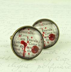 Count Dracula Vampire Cufflinks  Literary Horror by JezebelCharms, $25.00
