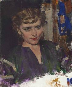 Nicolai Fechin - Portrait of Mademoiselle Podbelskaya. Russian Painting, Russian Art, Figure Painting, Painting & Drawing, Nicolai Fechin, Russian American, Oil Painting Pictures, Impressionist Paintings, Oil Paintings