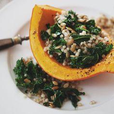 Roasted Pumpkin, Kale & Couscous Salad
