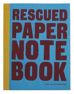 Rescued paper notitieboek