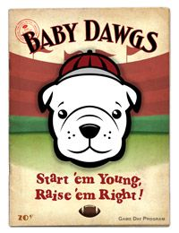 Gooooo Dawgs! He designs these for all the SEC teams - so cute I couldn't resist!