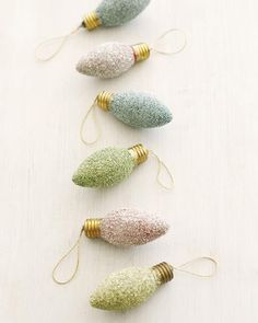 Glitter Bulbs Ornaments