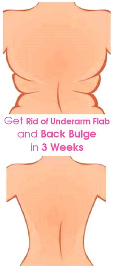 4 Quick Exercises to Get Rid of Underarm Flab and Back Bulge in 3 Weeks | Diary of a Fit Mommy | Bloglovin'
