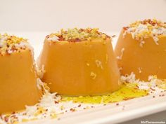 Flanes de salmorejo - MisThermorecetas Kiss The Cook, Food Decoration, Gazpacho, Canapes, Starters, Side Dishes, Appetizers, Pudding, Cooking Recipes