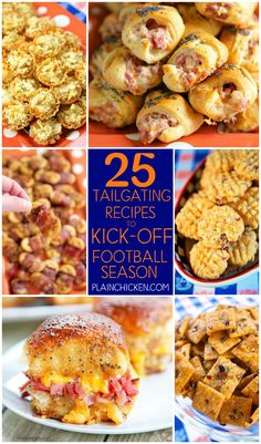 25 Tailgating Recipes to Kick Off Football Season - recipes that are guaranteed to be the winner of your football parties and tailgates! I want to eat them all! tailgate food recipe ideas 25 Tailgating Recipes to Kick Off Football Season - Plain Chicken Finger Food Appetizers, Appetizers For Party, Appetizer Recipes, Snack Recipes, Cooking Recipes, Egg Recipes, Free Recipes, Football Party Foods, Football Food