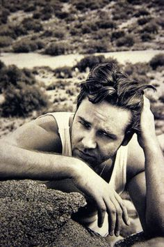 Russell Crowe don't why but  I have a weird obsession with him