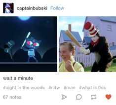 Night in the Woods Mae Borowski/The Cat in the Hat Tumblr post