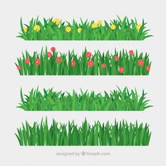 Discover thousands of copyright-free vectors. Graphic resources for personal and commercial use. Thousands of new files uploaded daily. Garden Fence Art, Grass Pattern, Animal Art Projects, Safari Decorations, Farm Activities, Different Types Of Flowers, Summer Trees, Painting Tips, Trees To Plant