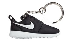 Nike Black White Roshe Run One 2D Flat Keychain