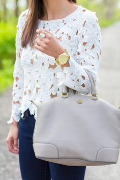 A Southern Drawl- beautiful white shirt