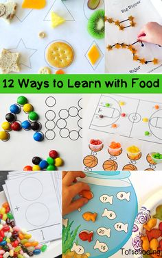 12 Ways to Learn While Playing with Food