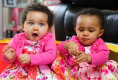 """""""First Black And White Twins"""" LeCharm UK"""