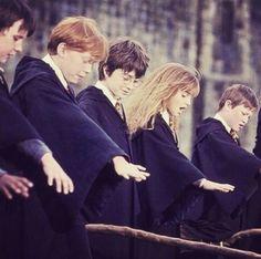 harry potter, hermione granger, and ron weasley Bild