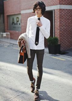 tomboy/femme style. I wants this outfit SO BAD