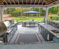58 outdoor kitchen designs that look neat and comfortable for outdoor cooking - kinal.xyz : 58 outdoor kitchen designs that look neat and comfortable for outdoor cooking - kinal. Outdoor Cooking Area, Outdoor Kitchen Patio, Outdoor Kitchen Design, Outdoor Living, Outdoor Decor, Outdoor Ideas, Rustic Outdoor, Outdoor Spaces, Kitchen Rustic