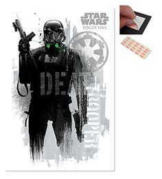 Bundle  2 Items  Star Wars Rogue One Death Trooper Grunge Poster  915 x 61cms 36 x 24 Inches and a Set of 4 Repositionable Adhesive Pads For Easy Wall Fixing -- To view further for this item, visit the image link.