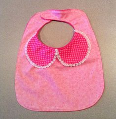 Dressy Pink Swirl Bib by TheSewingPope on Etsy